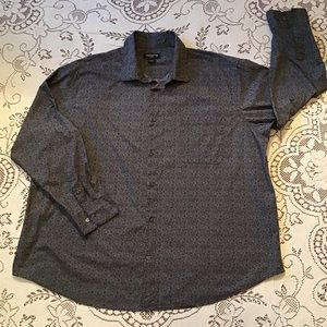 Claiborne - Black & White Patterned Dress Shirt